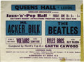 Music Memorabilia:Posters, Beatles Queens Hall Concert Handbill. A very difficult-to-findhandbill for a June 28, 1963, concert at the Queens Hall in L...(Total: 1 Item)