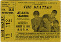 Music Memorabilia:Tickets, Beatles Atlanta Stadium Performance Ticket Stub. Used ticket stubfrom the group's August 18, 1965, performance at Atlanta S...