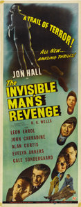 """Movie Posters:Horror, The Invisible Man's Revenge (Universal, 1944). Insert (14"""" X 36""""). ..."""