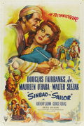 "Movie Posters:Adventure, Sinbad the Sailor (RKO, 1946). One Sheet (27"" X 41""). ..."