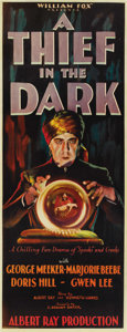 "Movie Posters:Mystery, A Thief in the Dark (Fox, 1928). Insert (14"" X 36""). ..."