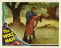 "Movie Posters:Horror, The Wolf Man (Universal, 1941). Lobby Card (11"" X 14""). ..."