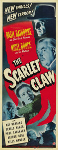 "Movie Posters:Mystery, The Scarlet Claw (Universal, 1944). Insert (14"" X 36""). ..."