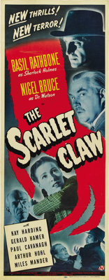 """The Scarlet Claw (Universal, 1944). Insert (14"""" X 36"""")"""