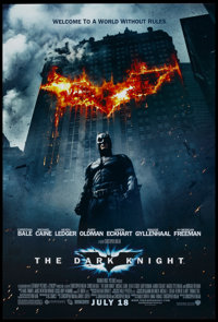 """The Dark Knight (Warner Brothers, 2008). One Sheet (27"""" X 40"""") SS Advance Style E. Action"""