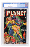 Golden Age (1938-1955):Science Fiction, Planet Comics #70 (Fiction House, 1953) CGC VG 4.0 Off-white towhite pages....