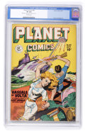 Golden Age (1938-1955):Science Fiction, Planet Comics #60 (Fiction House, 1949) CGC VF 8.0 Off-whitepages....