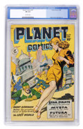 Golden Age (1938-1955):Science Fiction, Planet Comics #57 (Fiction House, 1948) CGC FN 6.0 Off-whitepages....