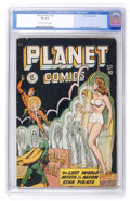 Golden Age (1938-1955):Science Fiction, Planet Comics #56 (Fiction House, 1948) CGC VG 4.0 Cream tooff-white pages....