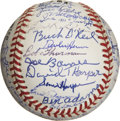 Autographs:Baseballs, Kansas City Monarch Team Signed Reunion Baseball....