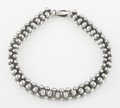Silver Smalls:Other , A MEXICAN BEADED SILVER NECKLACE. Maker unknown, circa 1940. Marks:unmarked. 14-1/2 inches long (36.8 cm). 2.86 troy ounces...