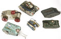 Antiques:Toys, Lot of Six Tin Tank Toys.... (Total: 6 Items)
