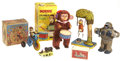 Antiques:Toys, Lot of Five Mechanical Monkey Toys.... (Total: 5 Items)