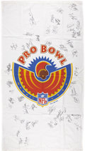 Football Collectibles:Others, 1996 Football Pro Bowl Signed Flag. ...