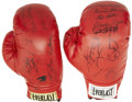 Boxing Collectibles:Autographs, Boxing Legends Signed Boxing Gloves Lot of 2. ... (Total: 2 items)