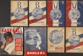 Baseball Collectibles:Programs, Brooklyn Dodgers Vintage Programs Lot Of 8....