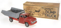 Antiques:Toys, Marx Mechanical Action Dump Truck No. 1004 in the Original Box....