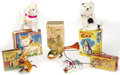 Antiques:Toys, Lot of Five Mechanical Cat Toys in the Original Boxes.... (Total: 5 Items)