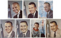 "Autographs:Celebrities, ""Mercury Seven"" Astronauts Individually Signed Color Portrait Photos.... (Total: 7 Items)"