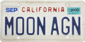 "Explorers:Space Exploration, Buzz Aldrin's 2002 California ""MOON AGN"" License Plate. ..."