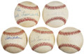 Autographs:Baseballs, Negro League Stars Single Signed Baseballs Lot of 5....
