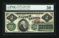 Fr. 41 $2 1862 Legal Tender PMG About Uncirculated 50 Net
