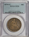 Seated Half Dollars, 1878-CC 50C VF25 PCGS....