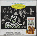 "Movie Posters:Horror, 13 Ghosts (Columbia, 1960). Six Sheet (81"" X 81""). Horror.. ..."