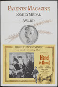 "Movie Posters:Drama, Hand in Hand (Columbia, 1961). One Sheet (27"" X 41"") Parents' Magazine Style. Drama.. ..."