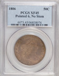 Early Half Dollars, 1806 50C Pointed 6, No Stem XF45 PCGS. PCGS Population (30/90).(#6073)...