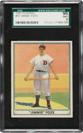 Baseball Cards:Singles (1940-1949), 1941 Play Ball Jimmie Foxx #13 SGC 96 Mint 9....