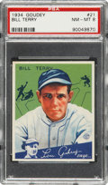 Baseball Cards:Singles (1930-1939), 1934 Goudey Bill Terry #21 PSA NM-MT 8....