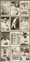 Autographs:Post Cards, Negro League Signed Postcards Lot Of 76....