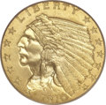 Proof Indian Quarter Eagles, 1910 $2 1/2 PR65 PCGS. CAC....