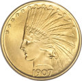 Indian Eagles, 1907 $10 No Periods MS63 ANACS....