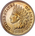 Proof Indian Cents, 1884 1C PR67 Red PCGS....