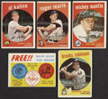 Baseball Cards:Lots, 1959 Topps Baseball Collection (124) Including Mantle....