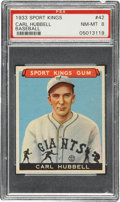 Baseball Cards:Singles (1930-1939), 1933 Sport Kings Carl Hubbell #42 PSA NM-MT 8....