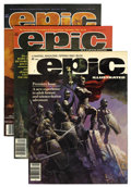 Magazines:Science-Fiction, Epic Illustrated Group (Marvel, 1980-85) Condition: Average NM.... (Total: 26 Comic Books)