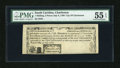 Colonial Notes:South Carolina, South Carolina, City of Charleston 1s/3d July 6, 1789 PMG AboutUncirculated 55 EPQ....