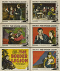"""Movie Posters:Western, The Border Legion (Paramount, 1924). Title Card and Lobby Cards (5) (11"""" X 14"""").. ... (Total: 6 Items)"""