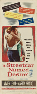 """Movie Posters:Drama, A Streetcar Named Desire (Warner Brothers, 1951). Insert (14"""" X36"""").. ..."""