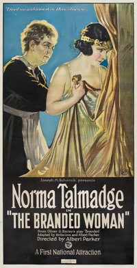 """The Branded Woman (First National, 1920). Three Sheet (41"""" X 81"""")"""