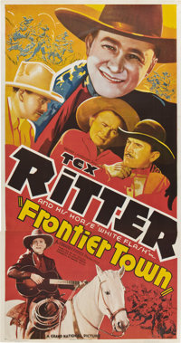 """Frontier Town (Grand National, 1938). Three Sheet (41"""" X 81"""")"""