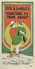 "Movie Posters:Drama, Something to Think About (Paramount, 1920). Three Sheet (41"" X 81"")Style B.. ..."
