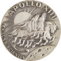 Explorers:Space Exploration, Apollo 13 Flown Silver Robbins Medallion Directly from the PersonalCollection of Mission Commander James Lovell, Serial Numbe...