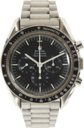 Explorers:Space Exploration, Apollo 17 Flown Omega Stainless Steel Speedmaster ProfessionalWatch and Flown Metal Attachment Directly from the Personal Col...(Total: 2 Items)