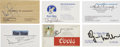 Autographs:Celebrities, Moonwalkers Complete Set of Individual Business Cards Signed....(Total: 12 Items)