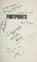 Autographs:Celebrities, Moonwalkers Signed Book: Douglas McKinnon and Joseph Baldanza. Footprints. ...