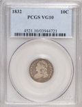 Bust Dimes: , 1832 10C VG10 PCGS. PCGS Population (3/260). NGC Census: (2/239).Mintage: 522,500. Numismedia Wsl. Price for NGC/PCGS coin...